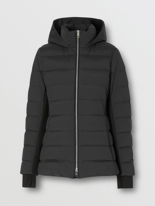 Hooded Puffer Jacket in Black - Women | Burberry Singapore - cell image 3