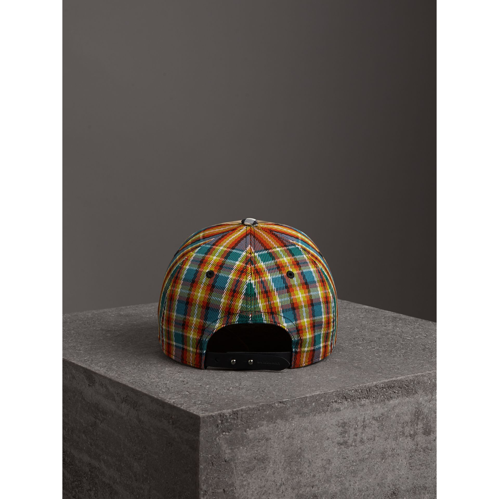 Patchwork Check Baseball Cap in Antique Yellow | Burberry United Kingdom - gallery image 3