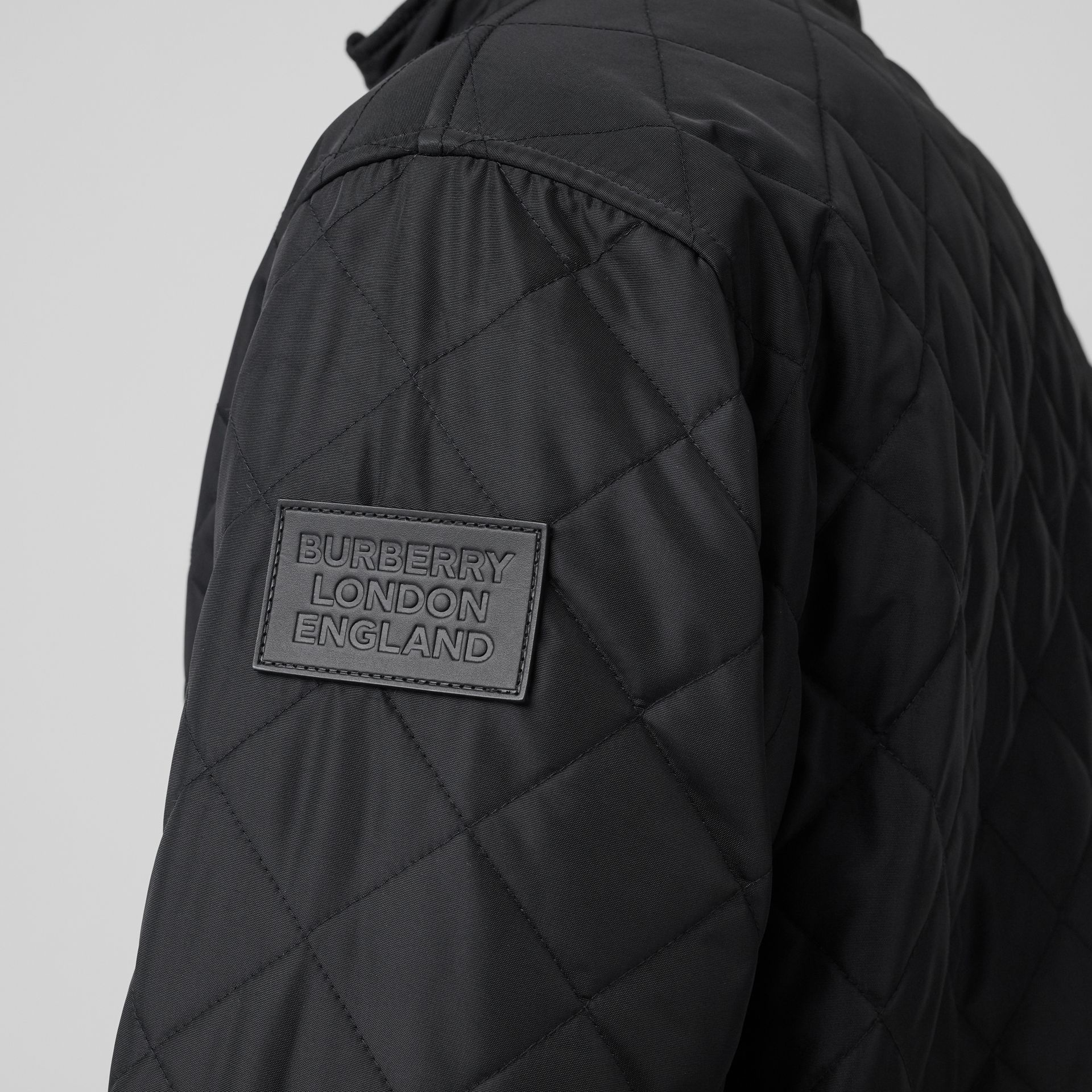 Diamond Quilted Thermoregulated Jacket in Black - Men | Burberry - gallery image 4