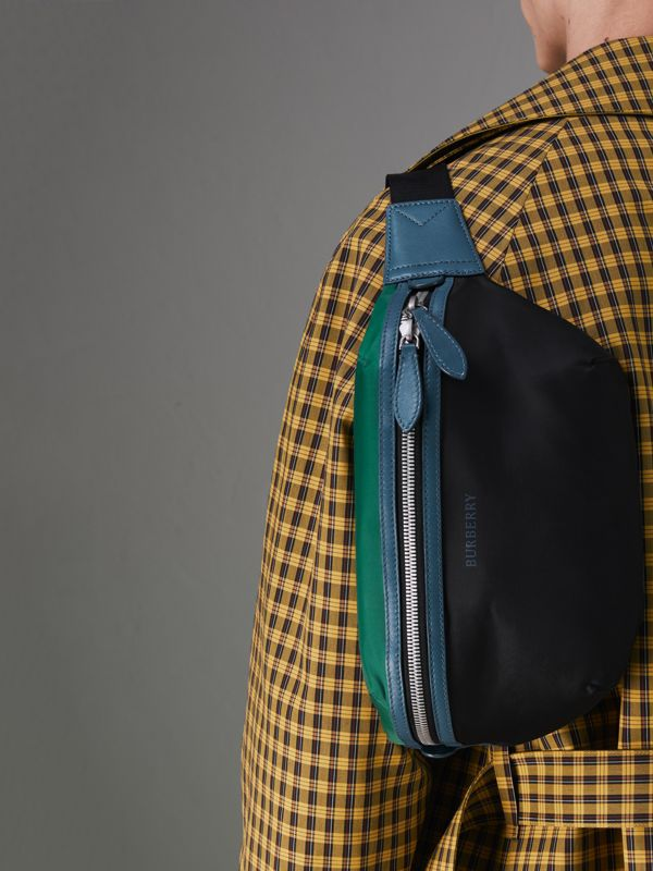 Tri-tone Nylon and Leather Bum Bag in Black | Burberry - cell image 3