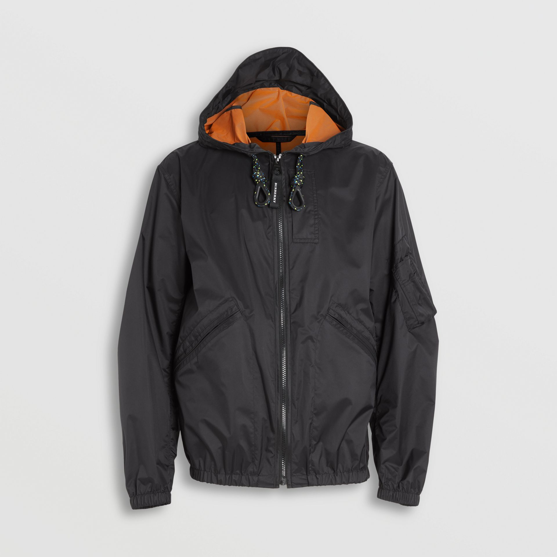 Flyweight Nylon Hooded Bomber Jacket in Black - Men | Burberry - gallery image 3
