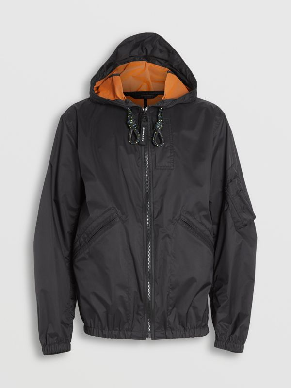 Flyweight Nylon Hooded Bomber Jacket in Black - Men | Burberry United States - cell image 3