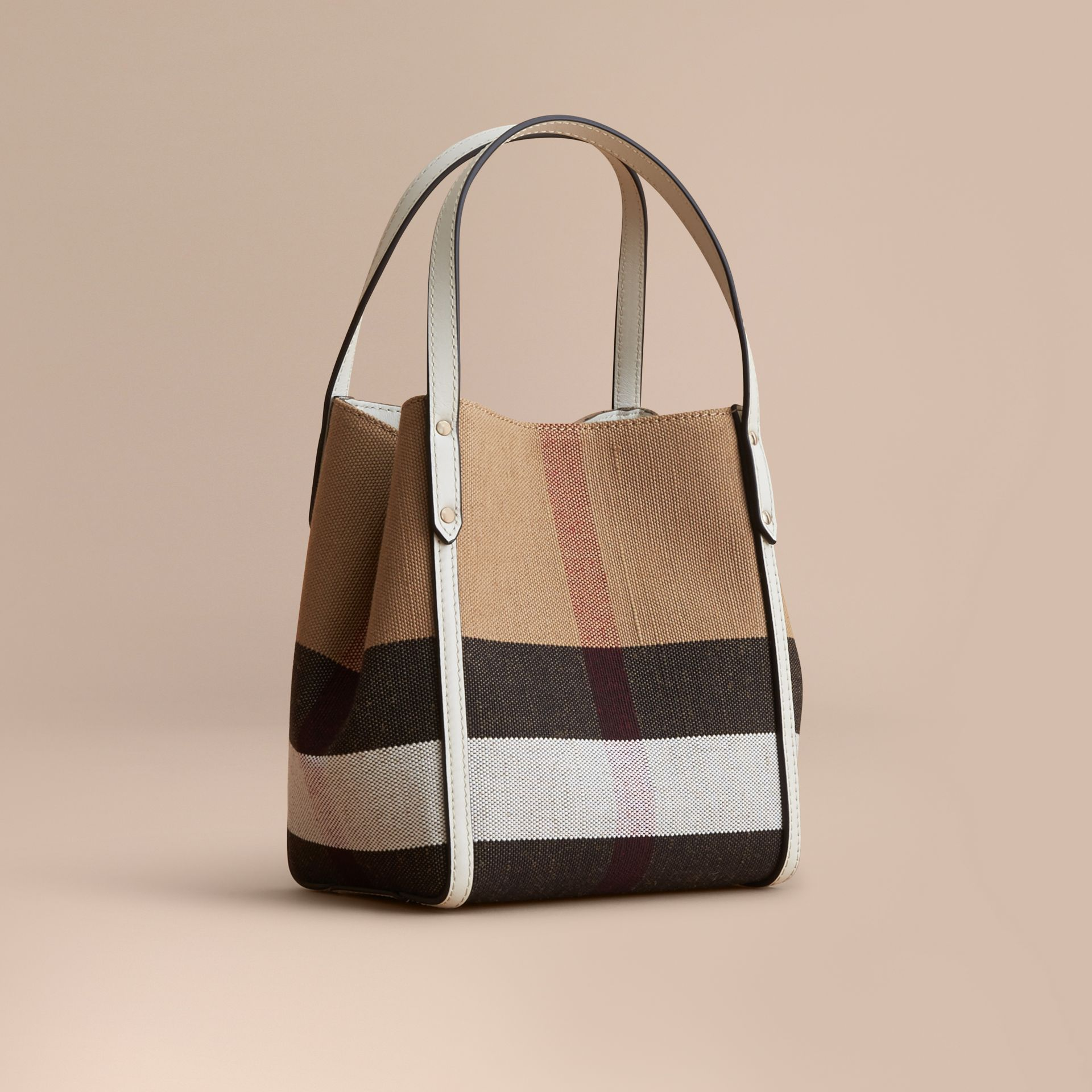 Canvas Check Tote Bag | Burberry - gallery image 1