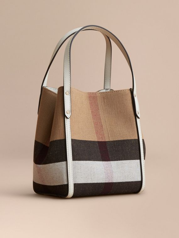 Borsa tote con motivo Canvas check
