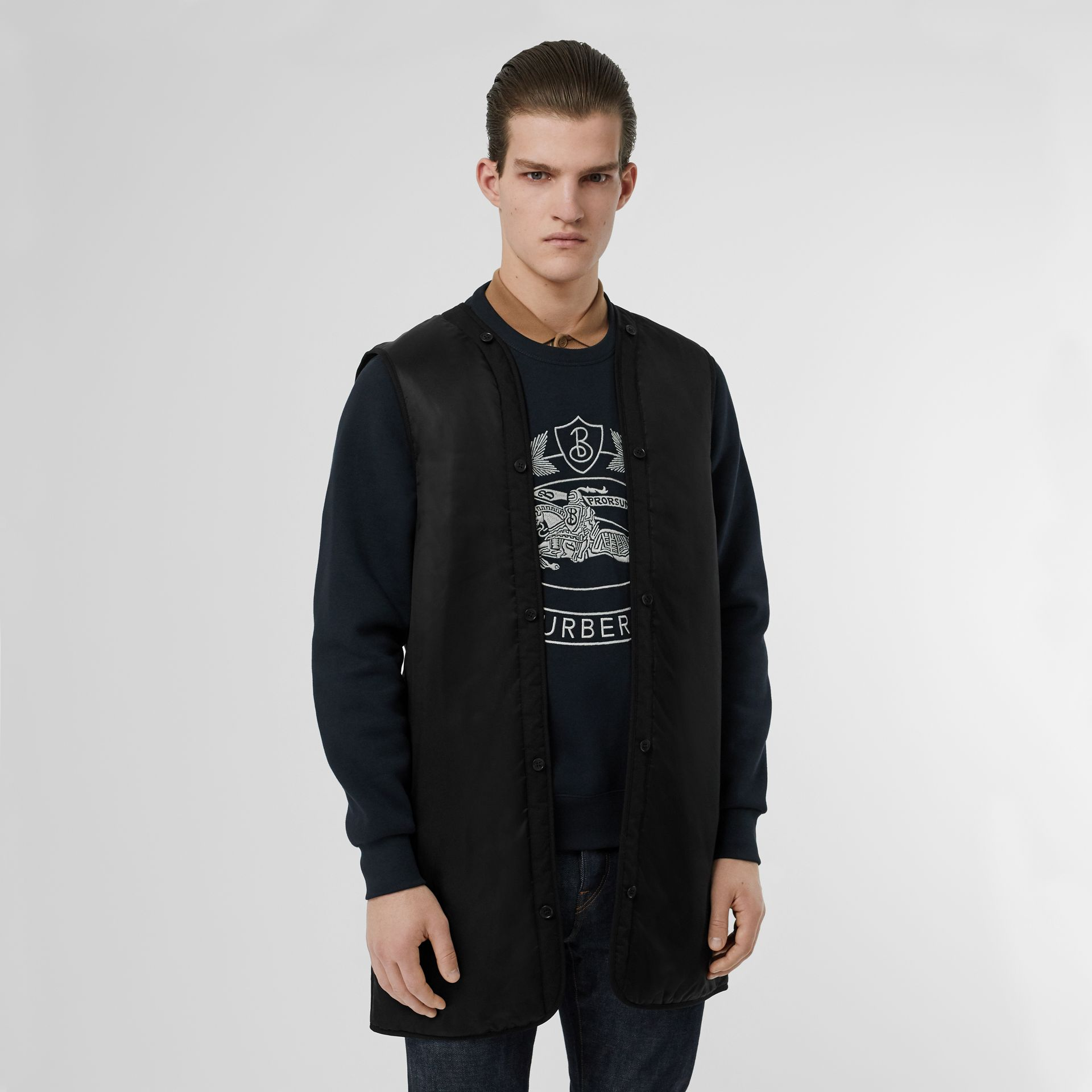 Bonded Car Coat with Warmer in Navy - Men | Burberry Canada - gallery image 6