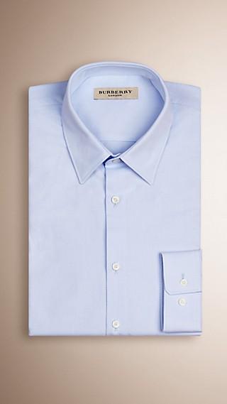 Slim Fit Fine Stripe Cotton Shirt