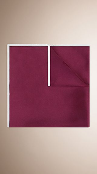 Contrast Border Silk Pocket Square
