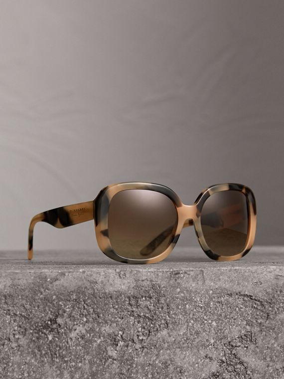 Square Frame Sunglasses in Honey