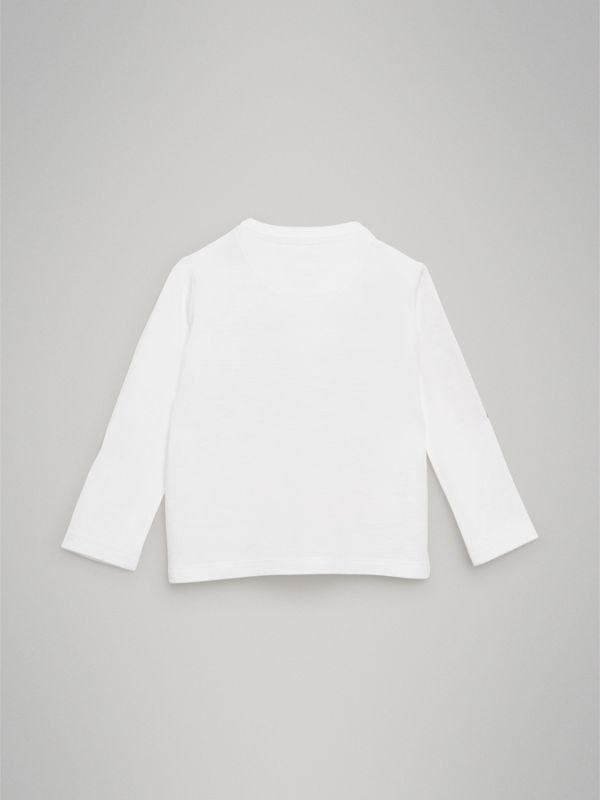 Archive Advert Print Cotton Top in White - Children | Burberry - cell image 3