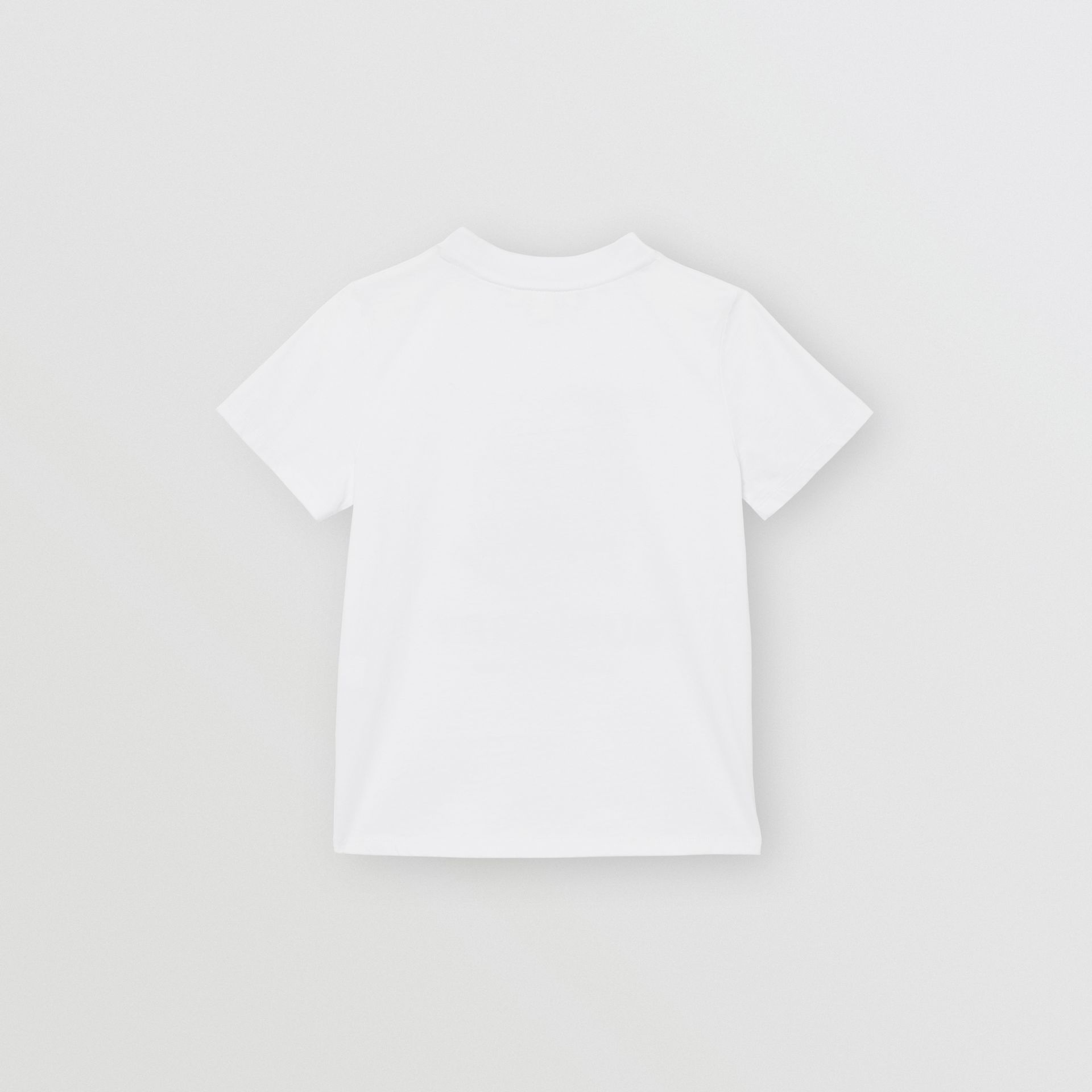 Vintage Polaroid Print Cotton T-shirt in White - Children | Burberry Australia - gallery image 5