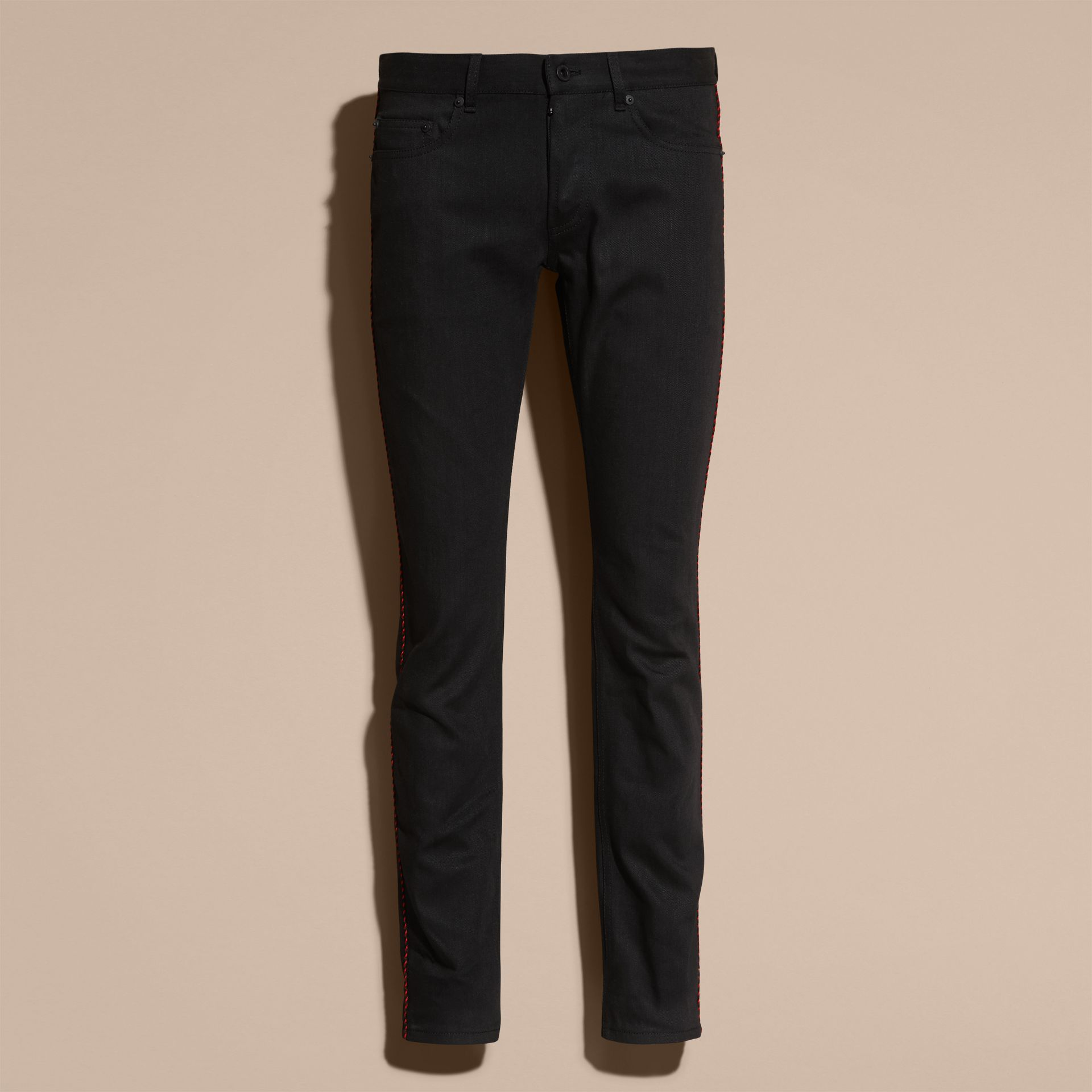 Slim Fit Regimental Jeans - gallery image 4