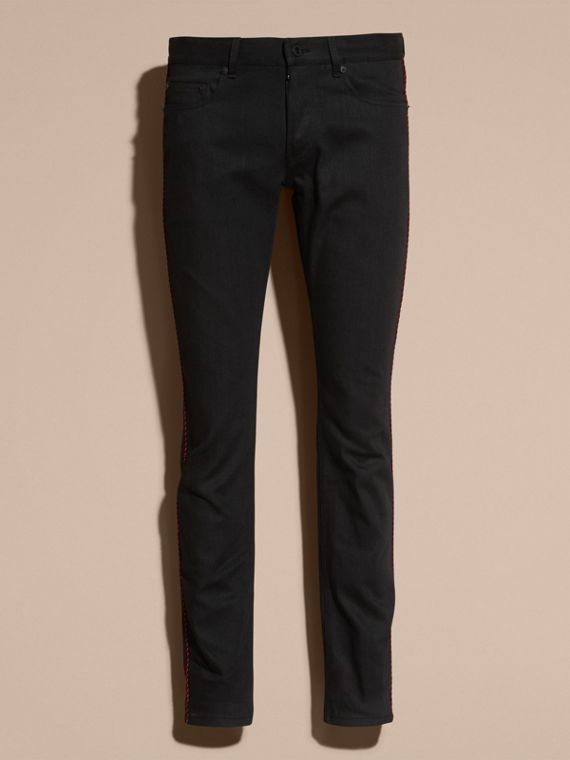 Black Slim Fit Regimental Jeans - cell image 3
