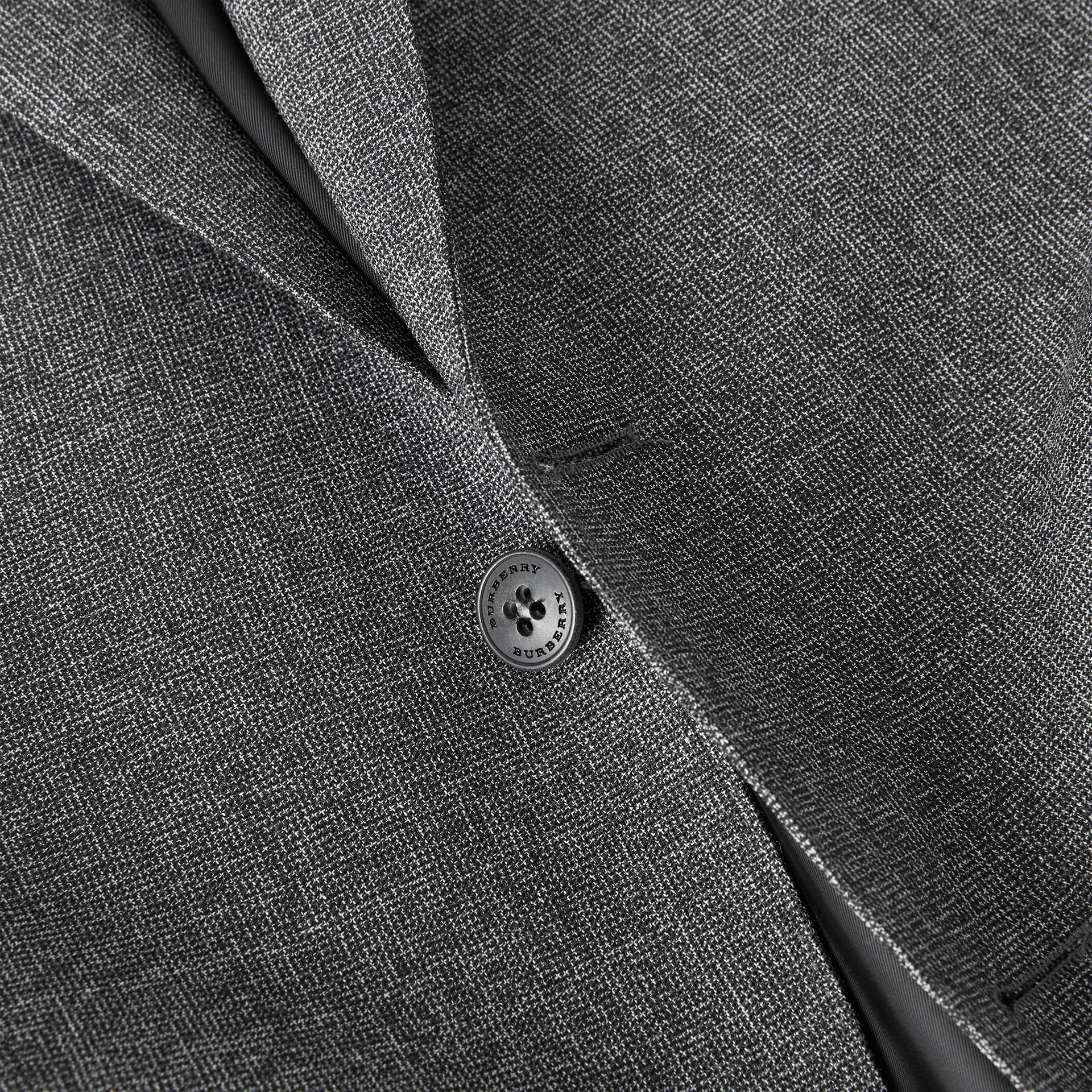 Classic Fit Melange Wool Three-piece Suit in Charcoal - Men | Burberry - gallery image 9
