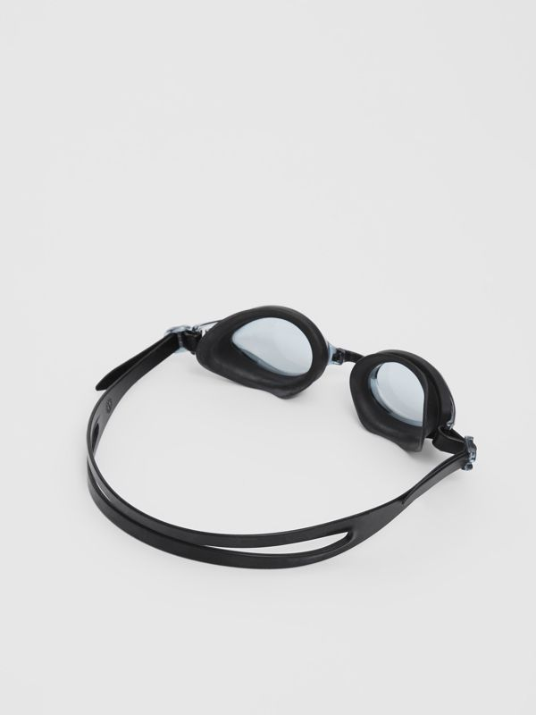 Logo Print Swimming Goggles in Black | Burberry United States - cell image 3