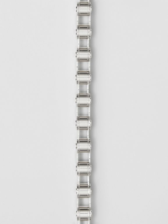 Bicycle Chain Palladium-plated Bracelet in Silver - Men | Burberry - cell image 1
