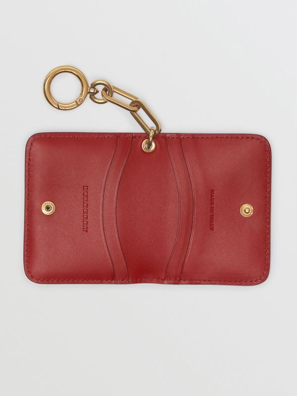 Link Detail Patent Leather ID Card Case Charm in Crimson - Women | Burberry United States - cell image 3