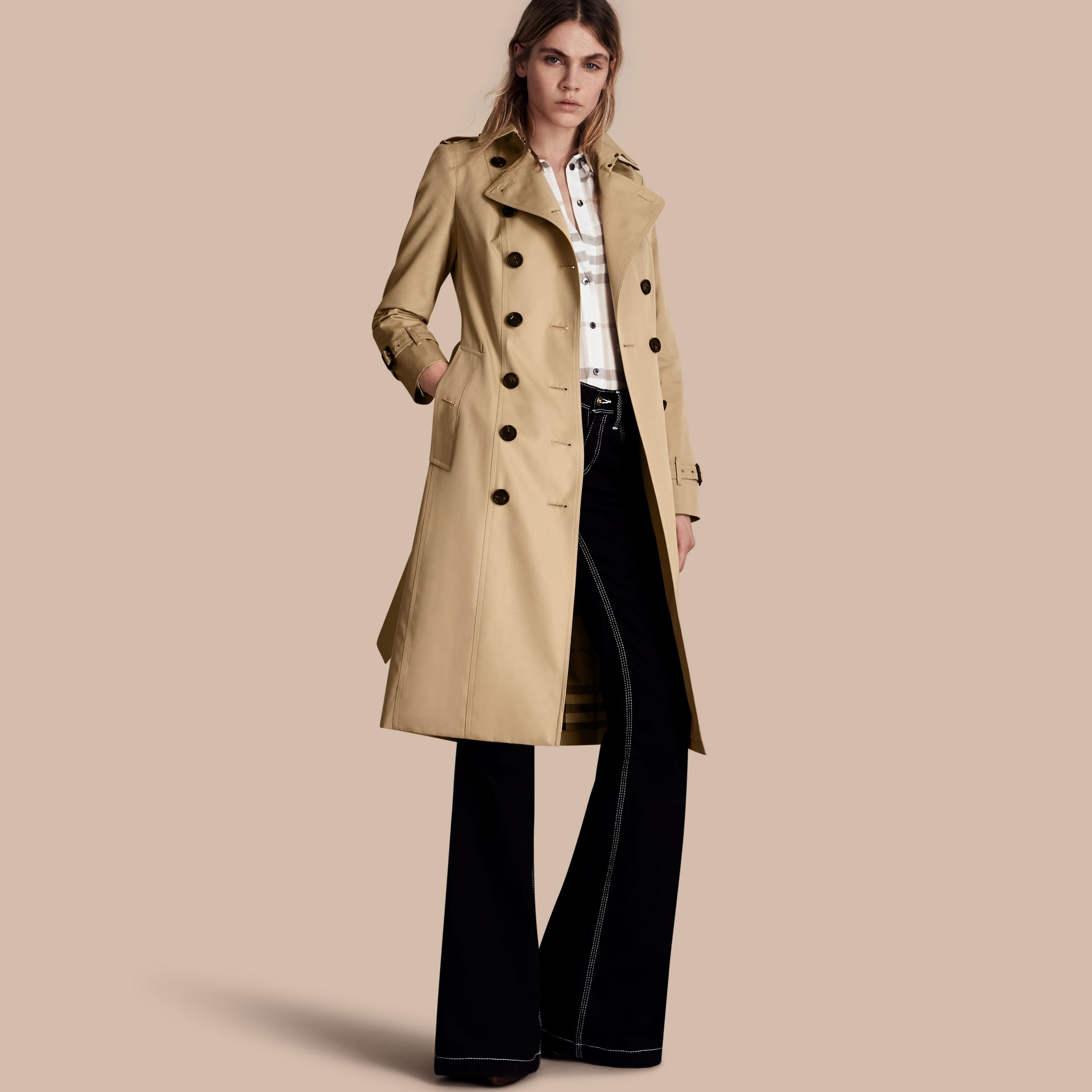 Honey The Sandringham – Extra-long Heritage Trench Coat Honey - gallery image 1