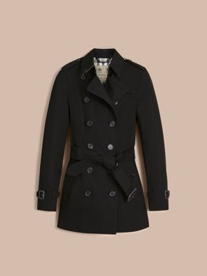 The Sandringham – Short Heritage Trench Coat in Black - Women ...