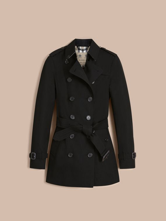 The Sandringham – Short Heritage Trench Coat in Black - Women | Burberry - cell image 3