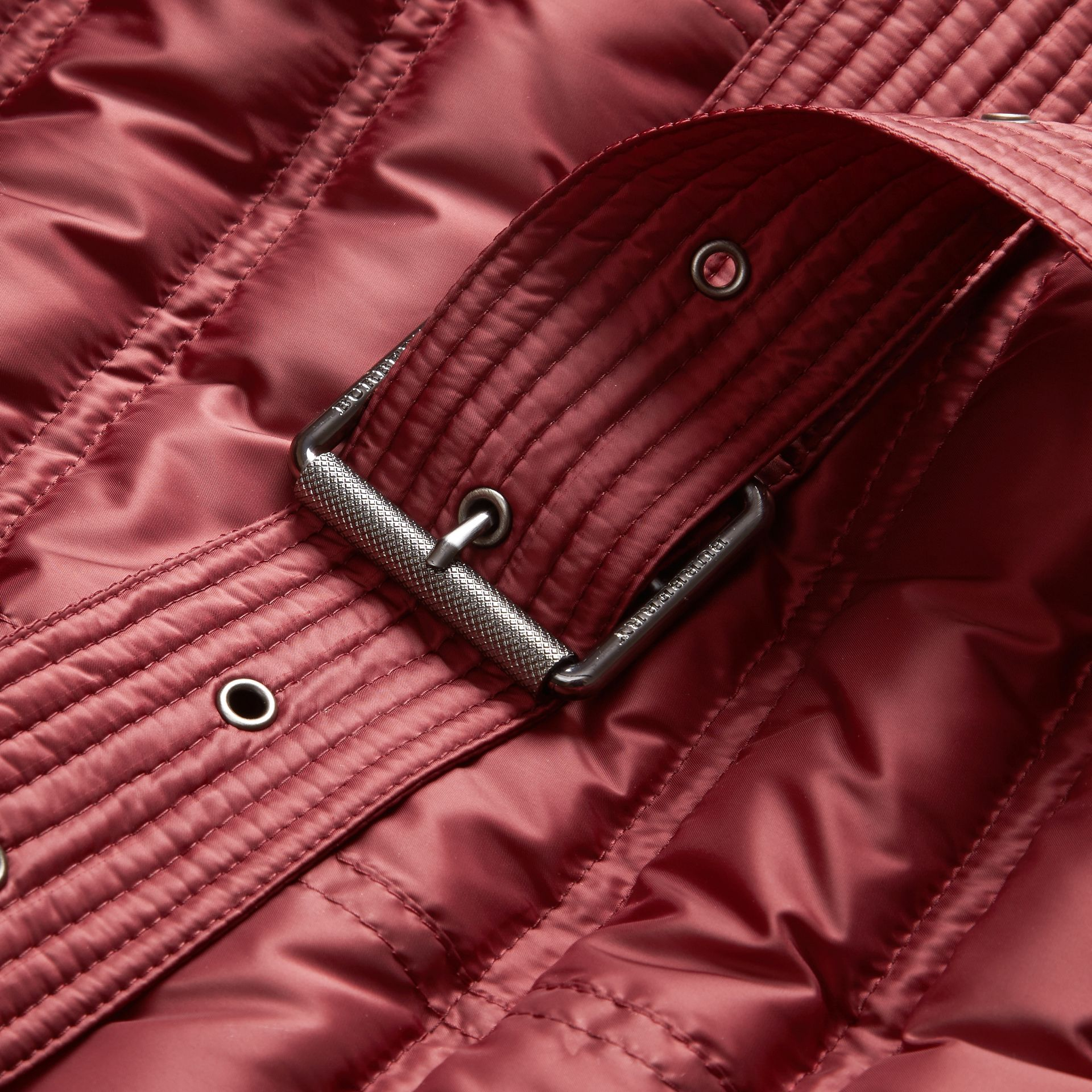 Dark crimson Down-filled Puffer Coat Dark Crimson - gallery image 2