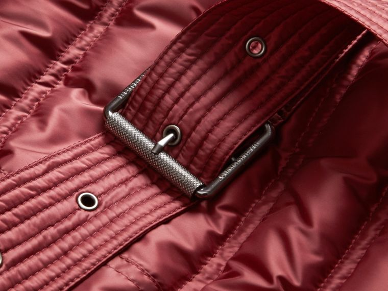 Dark crimson Down-filled Puffer Coat Dark Crimson - cell image 1