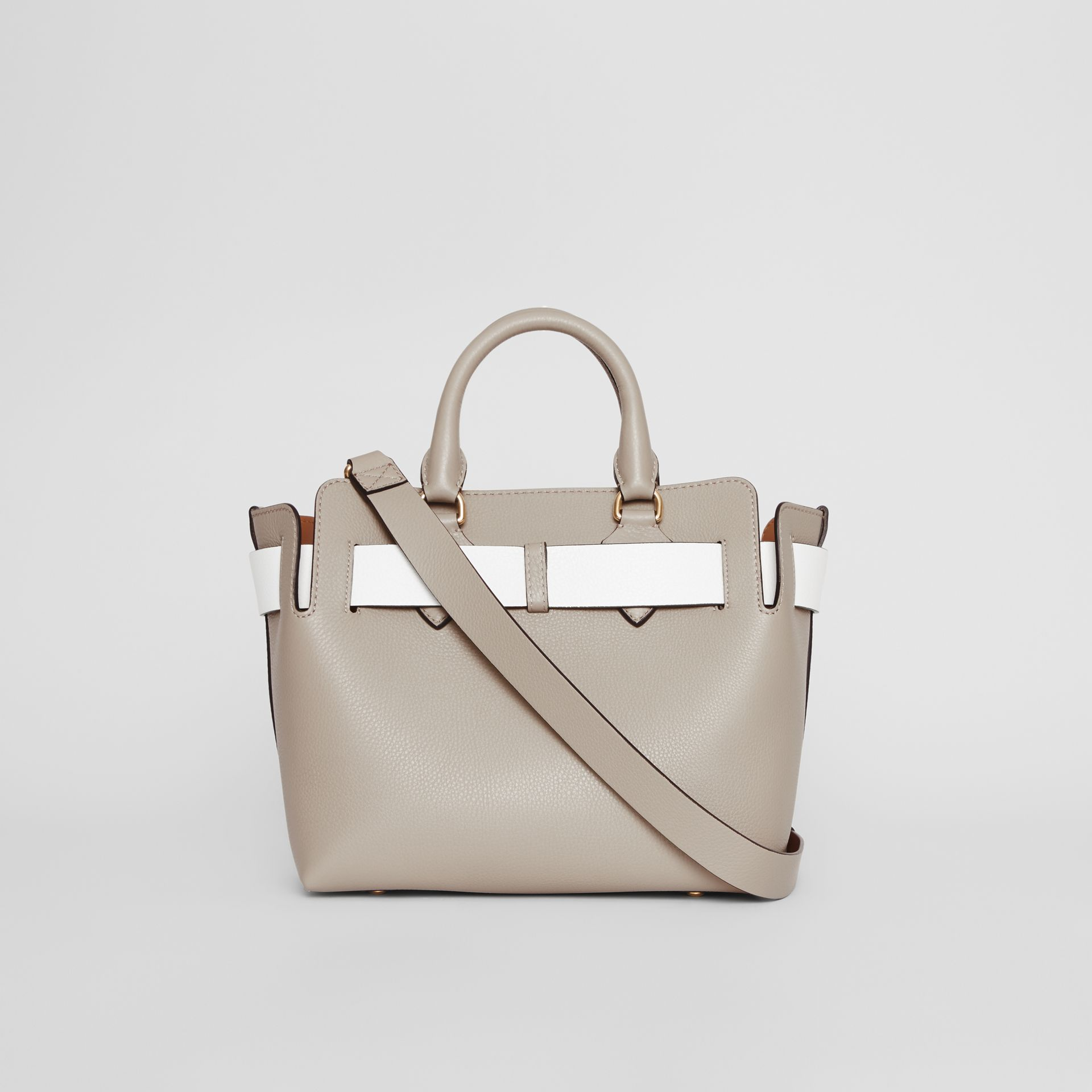The Small Tri-tone Leather Belt Bag in Mineral Grey - Women | Burberry United Kingdom - gallery image 7