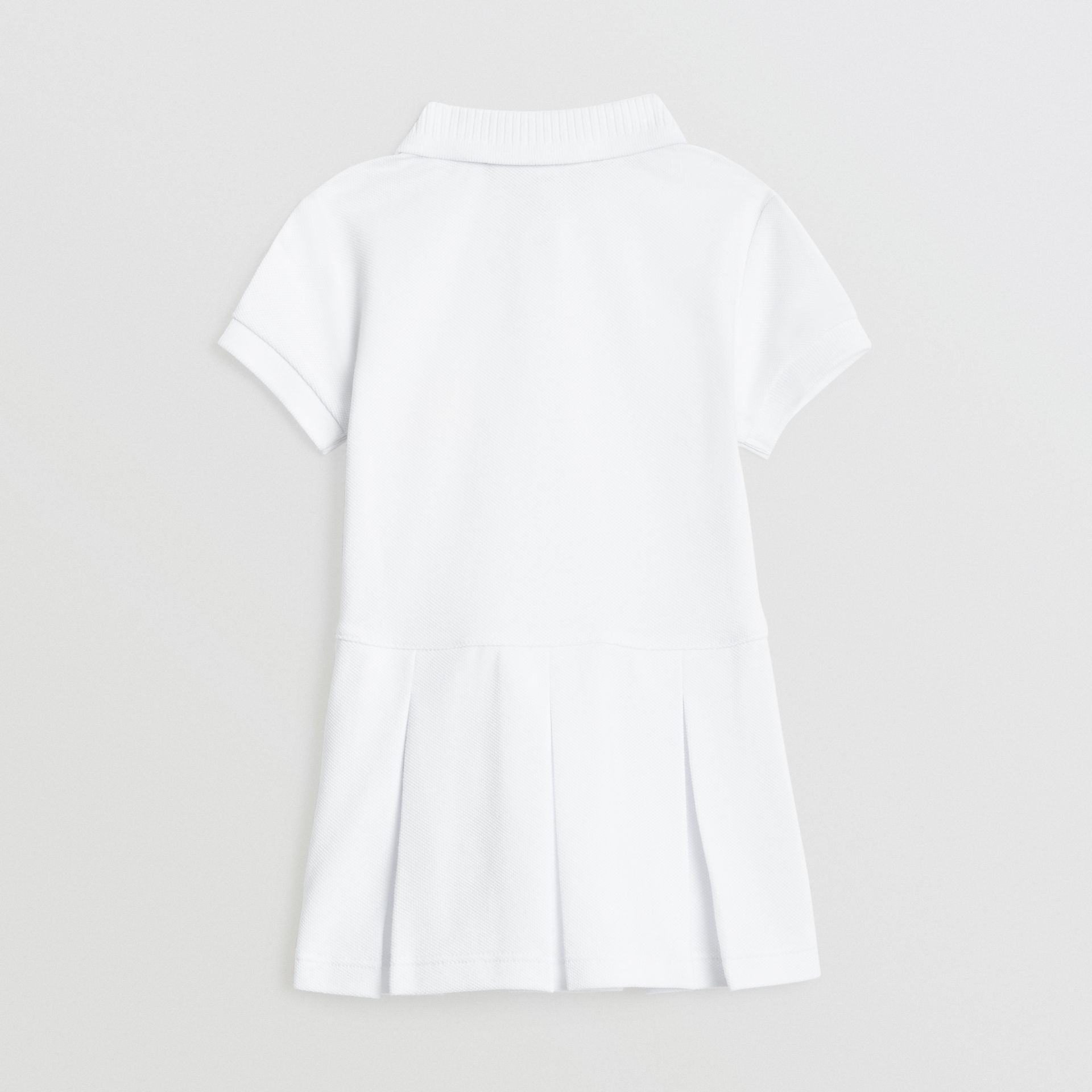 EKD Logo Cotton Polo Dress in White - Children | Burberry - gallery image 3