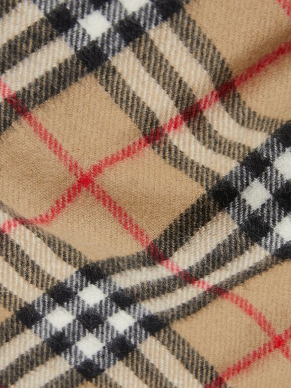 The Mini Classic Vintage Check Cashmere Scarf in Archive Beige - Children | Burberry - cell image 1