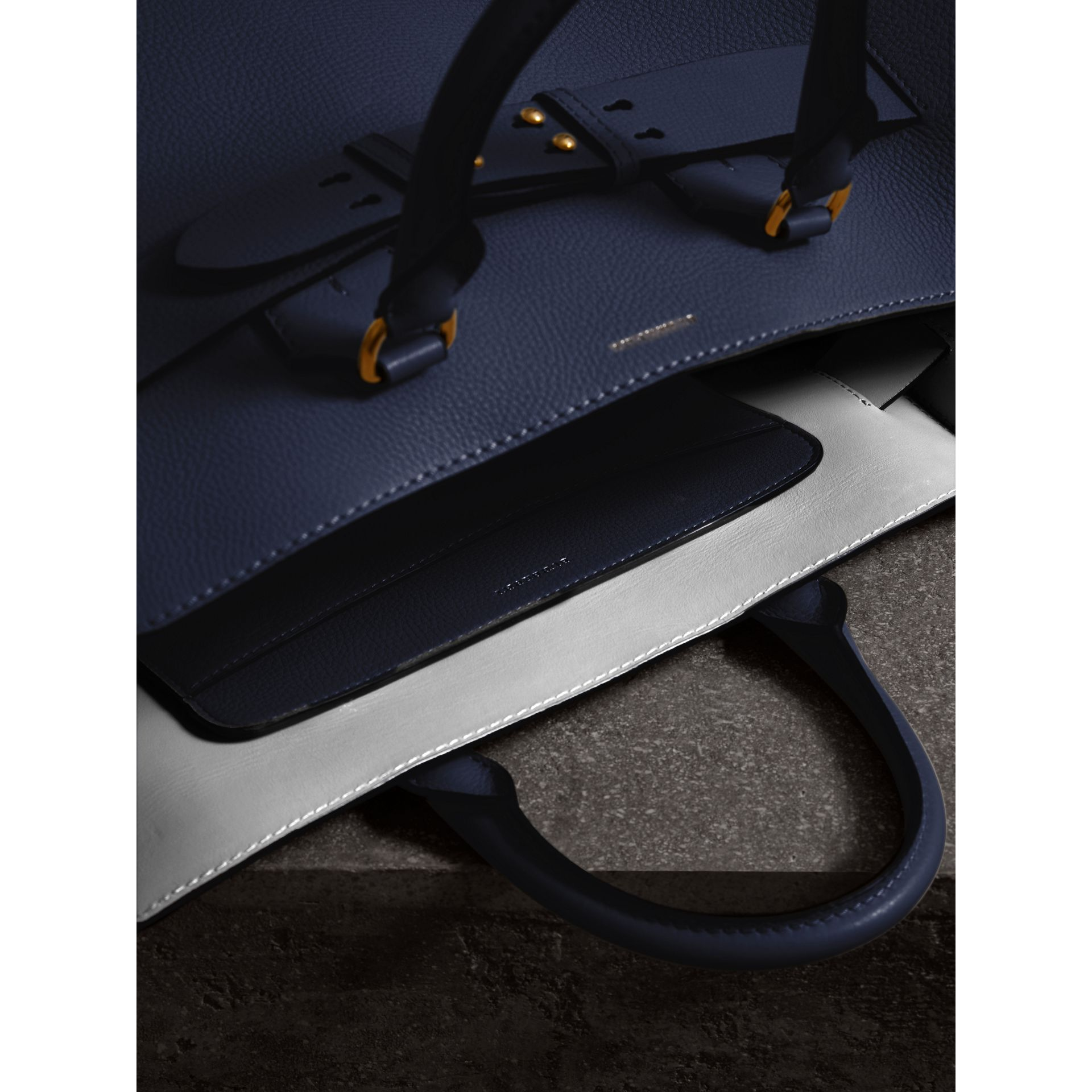 The Large Leather Belt Bag in Regency Blue | Burberry Singapore - gallery image 5