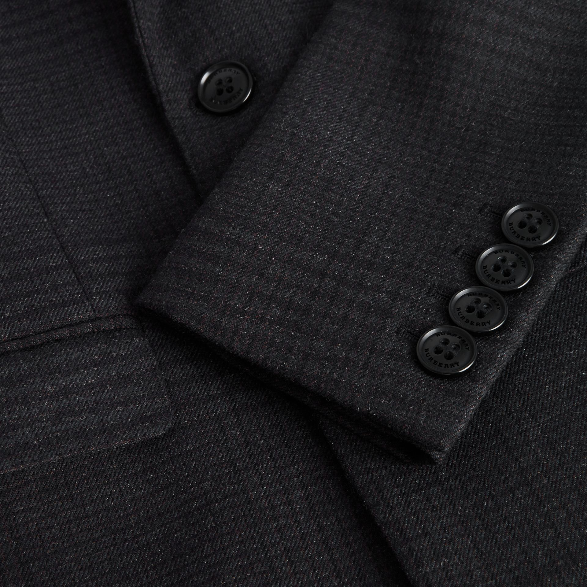 Prince of Wales Check Wool Blazer in Dark Grey | Burberry Australia - gallery image 1
