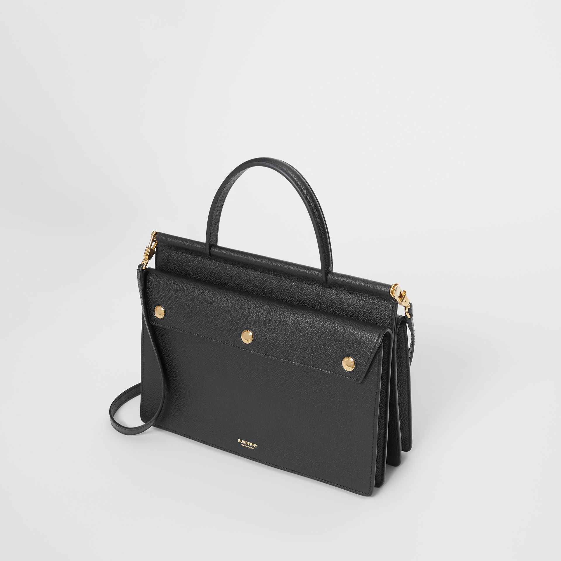 Small Leather Title Bag with Pocket Detail in Black - Women | Burberry Hong Kong S.A.R - gallery image 3