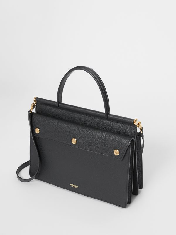 Small Leather Title Bag with Pocket Detail in Black - Women | Burberry Hong Kong S.A.R - cell image 3