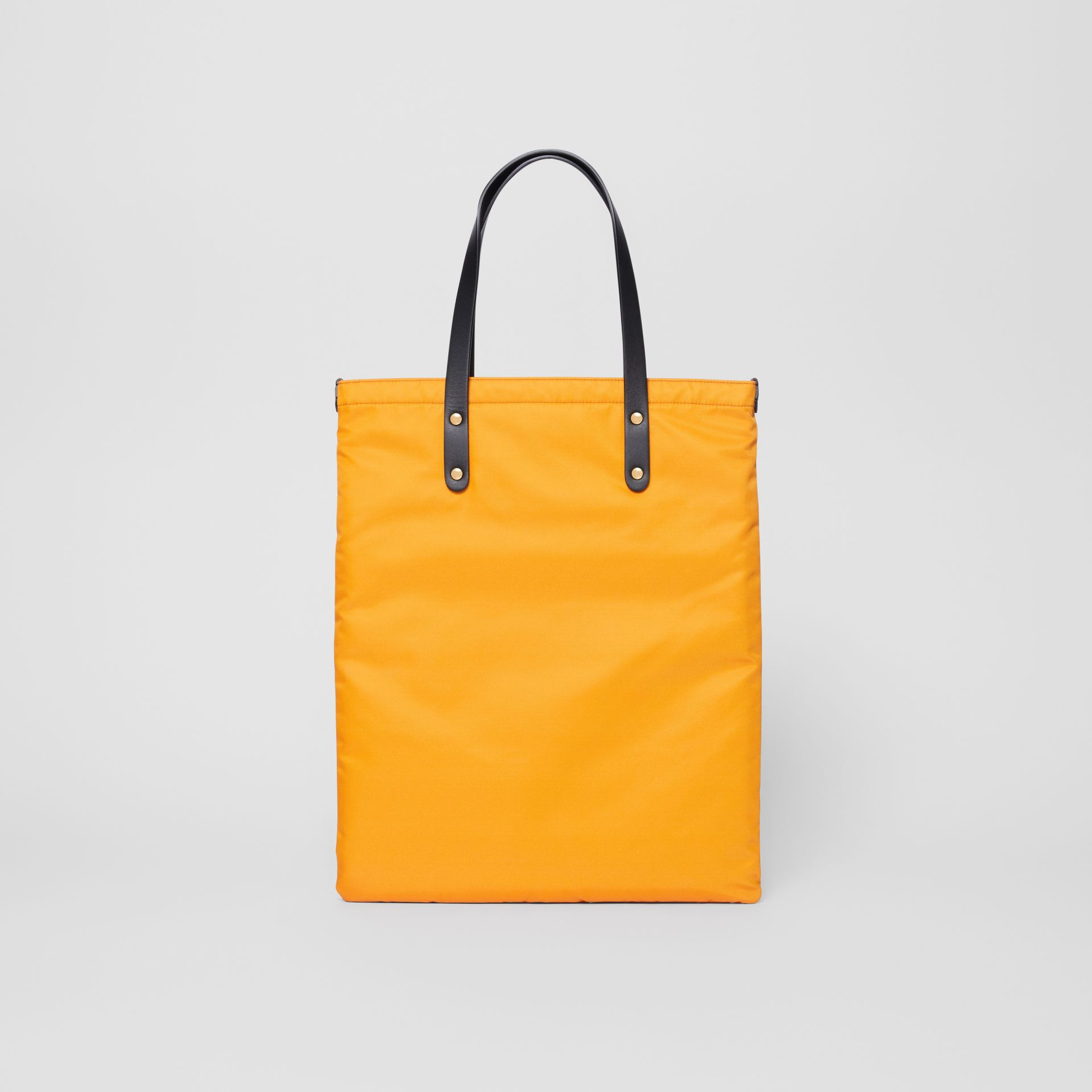 Logo Print Nylon Tote Bag in Orange | Burberry - gallery image 9