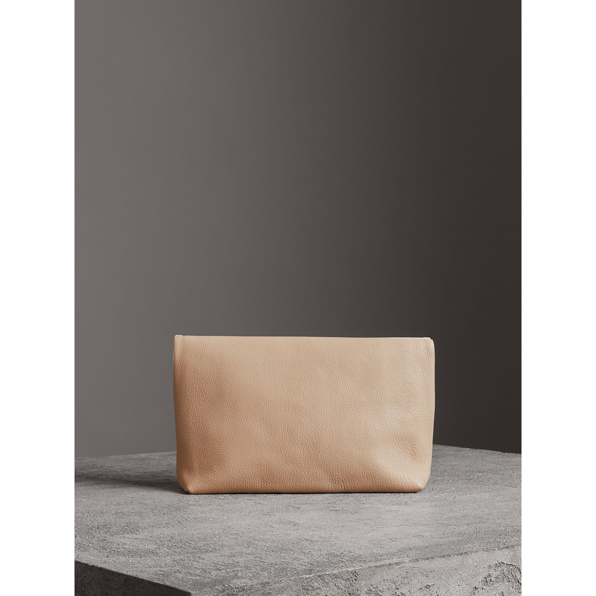 The Medium Pin Clutch in Leather in Stone - Women | Burberry United States - gallery image 5