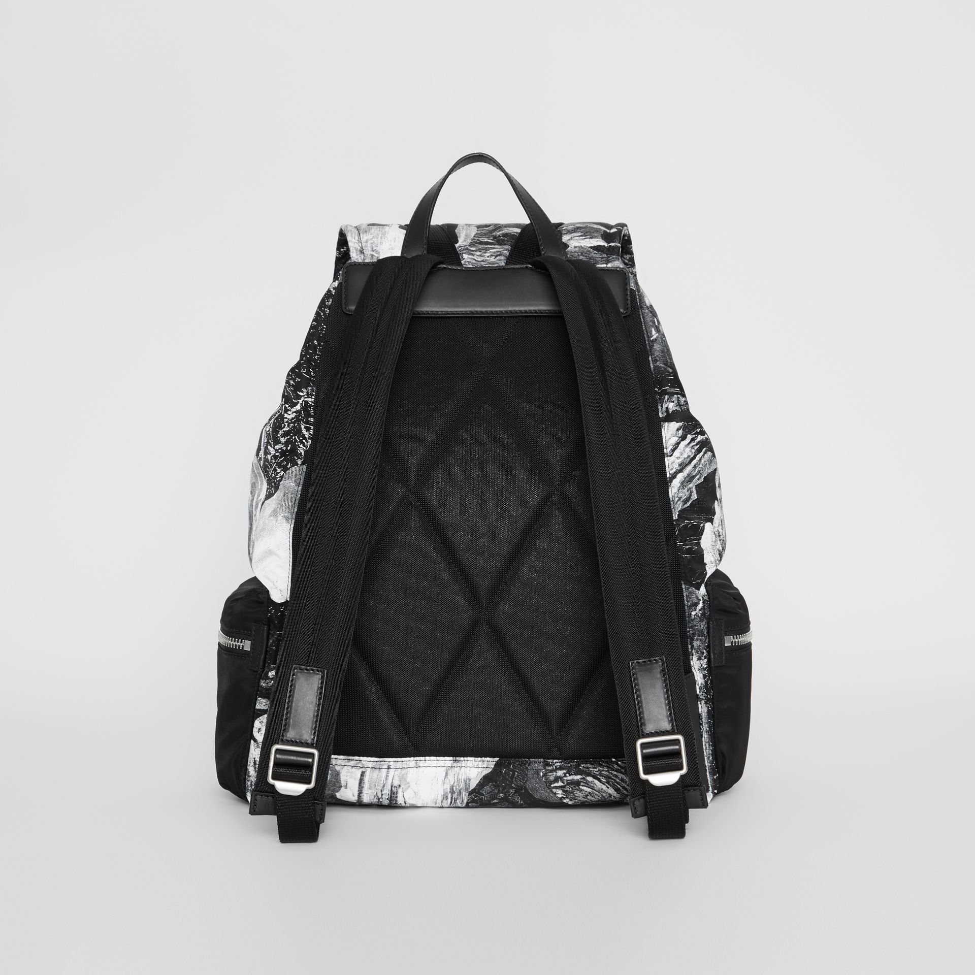 The Extra Large Rucksack in Dreamscape Print in Black/white - Men | Burberry United Kingdom - gallery image 7