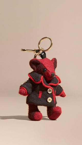 Thomas Bear Charm in Wool Cashmere Military Coat