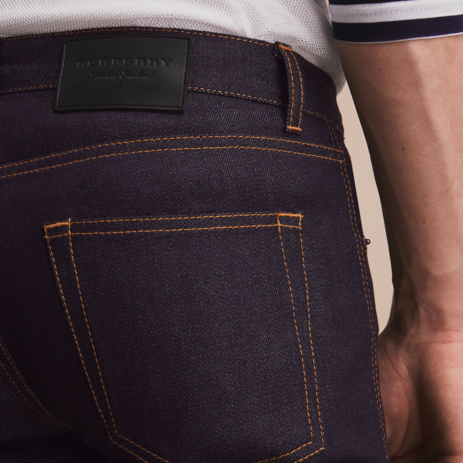 Slim Fit Raw Indigo Denim Jeans - Men | Burberry United Kingdom - gallery image 4