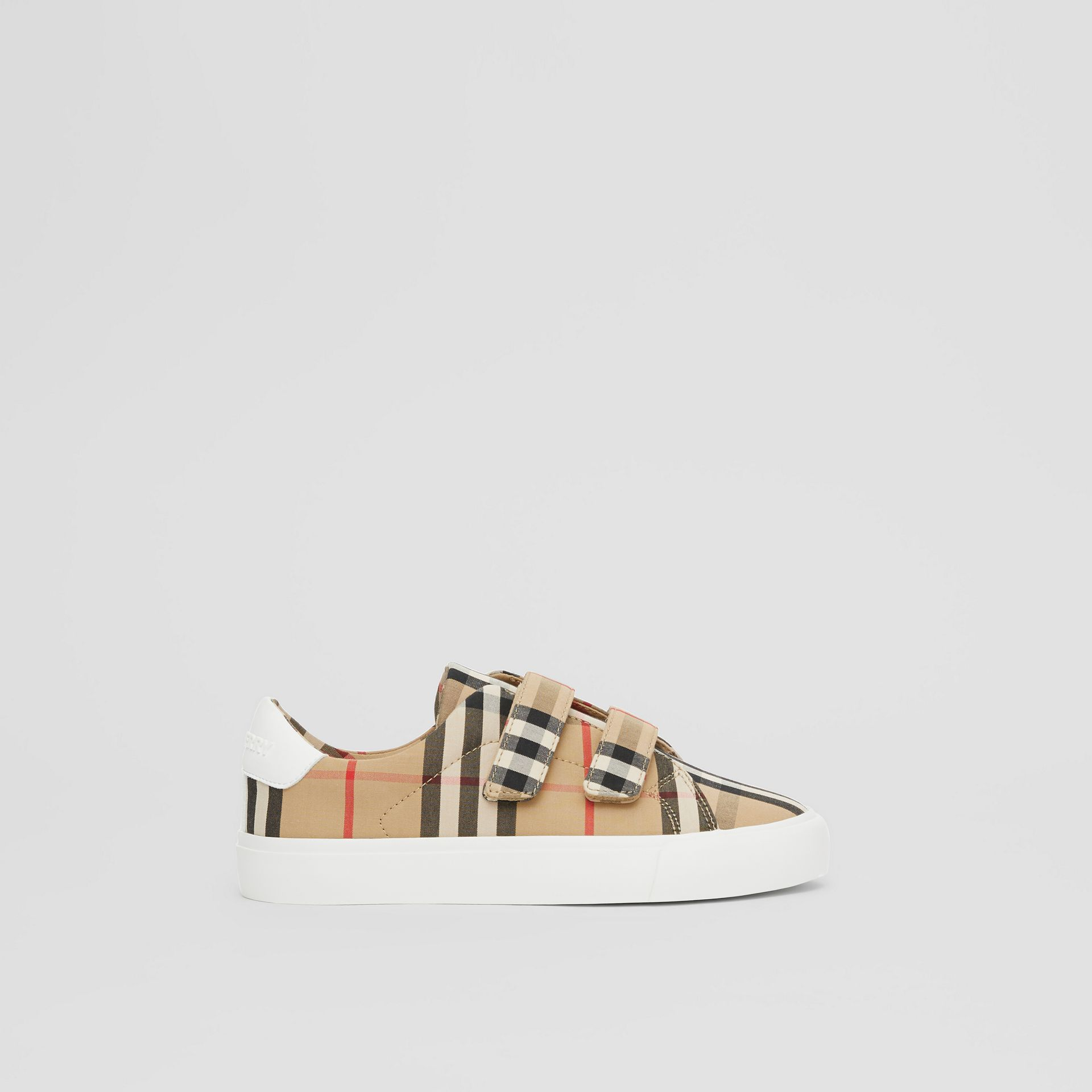 Vintage Check Cotton Sneakers in Archive Beige - Children | Burberry Singapore - gallery image 3