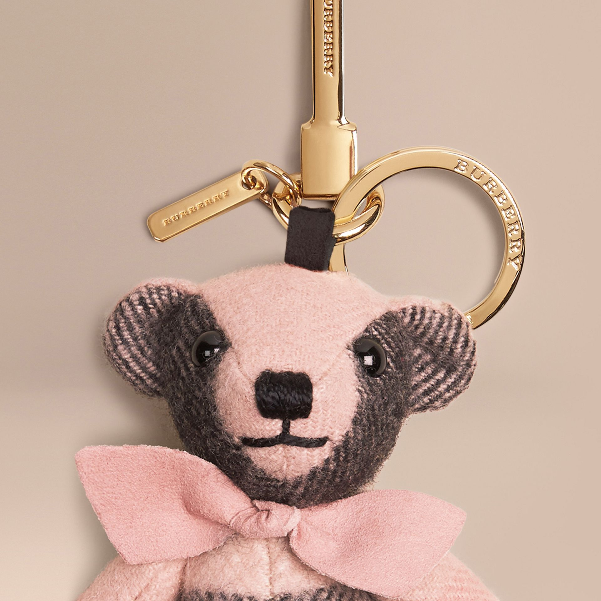 Thomas Bear Charm in Check Cashmere Rose - gallery image 2