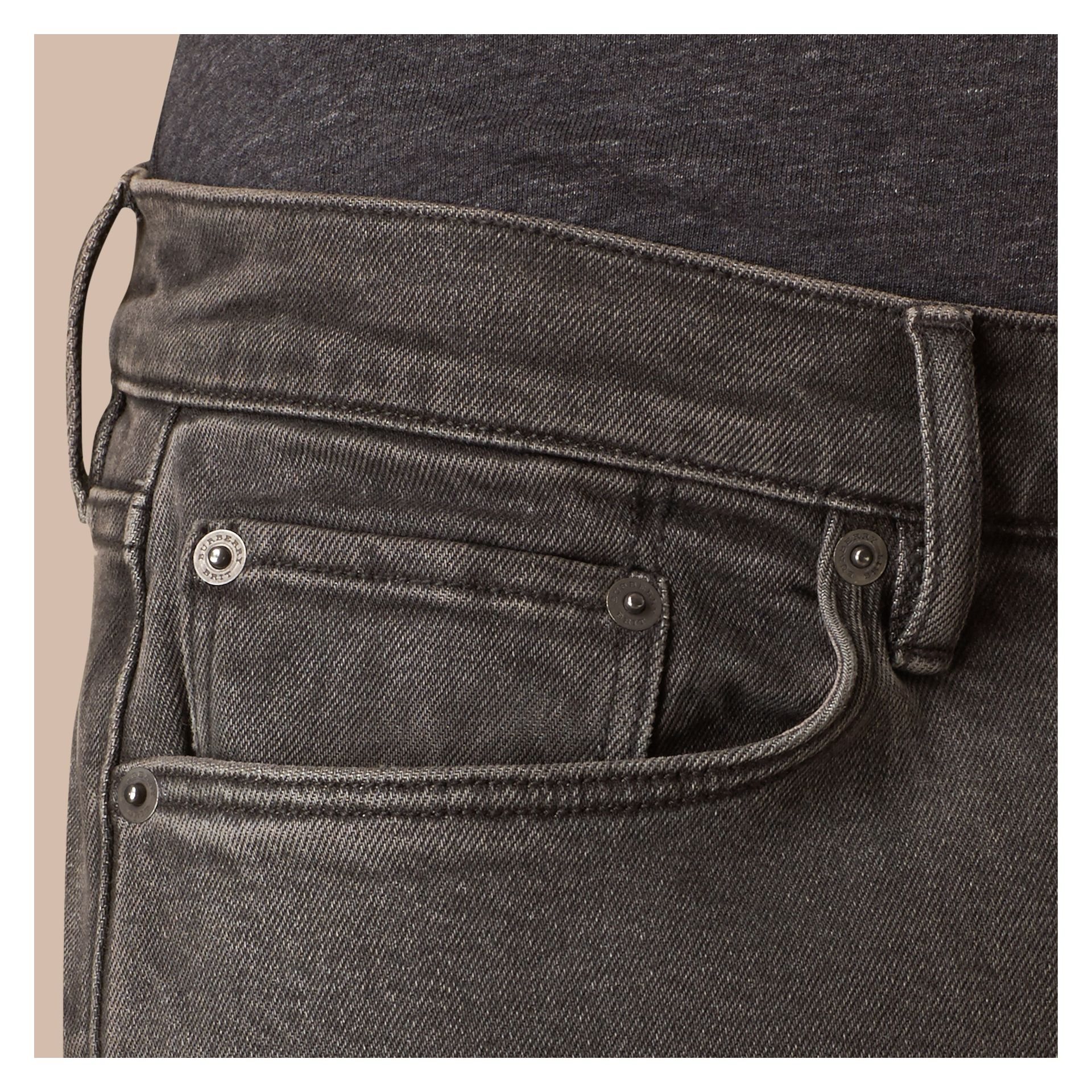 Slim Fit Stretch Japanese Denim Jeans - gallery image 5