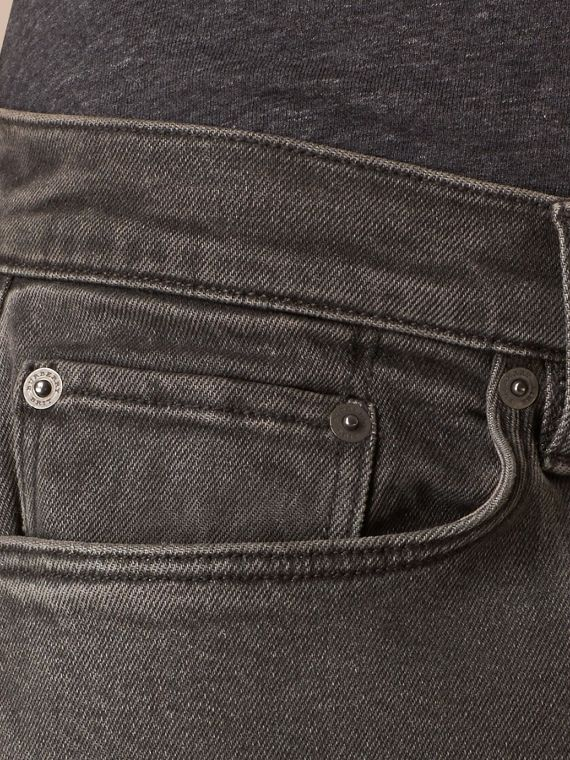 Noir Jean slim stretch en denim japonais - cell image 3