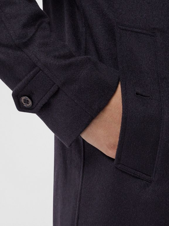 Cashmere Car Coat in Navy - Men | Burberry Australia - cell image 1