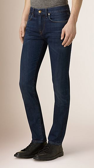 Jean de coupe slim en denim selvedge japonais