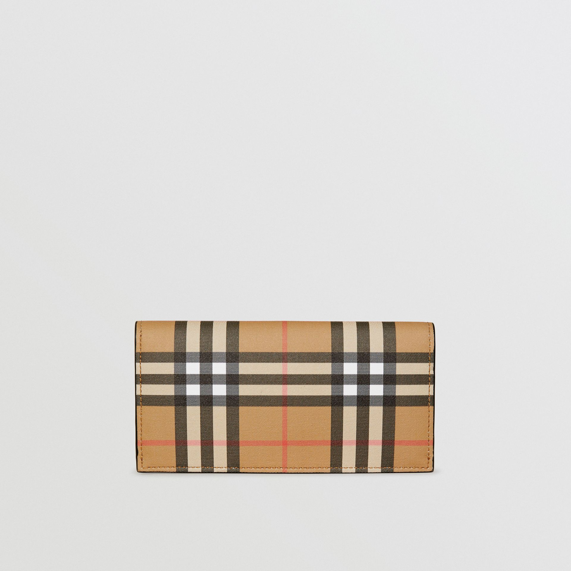 Vintage Check and Leather Continental Wallet in Antique Yellow/black - Men | Burberry - gallery image 5