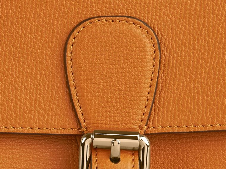 Cognac The Medium Saddle Bag in Grainy Bonded Leather Cognac - cell image 1