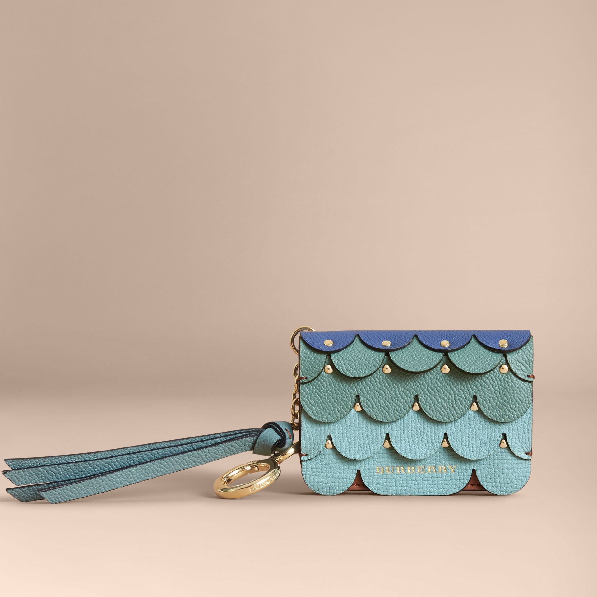Scalloped Leather Card Case Bright Toffee - gallery image 5