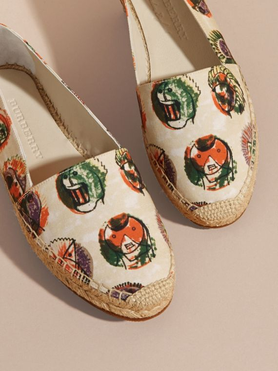 Pallas Heads Print Cotton Espadrilles - cell image 3