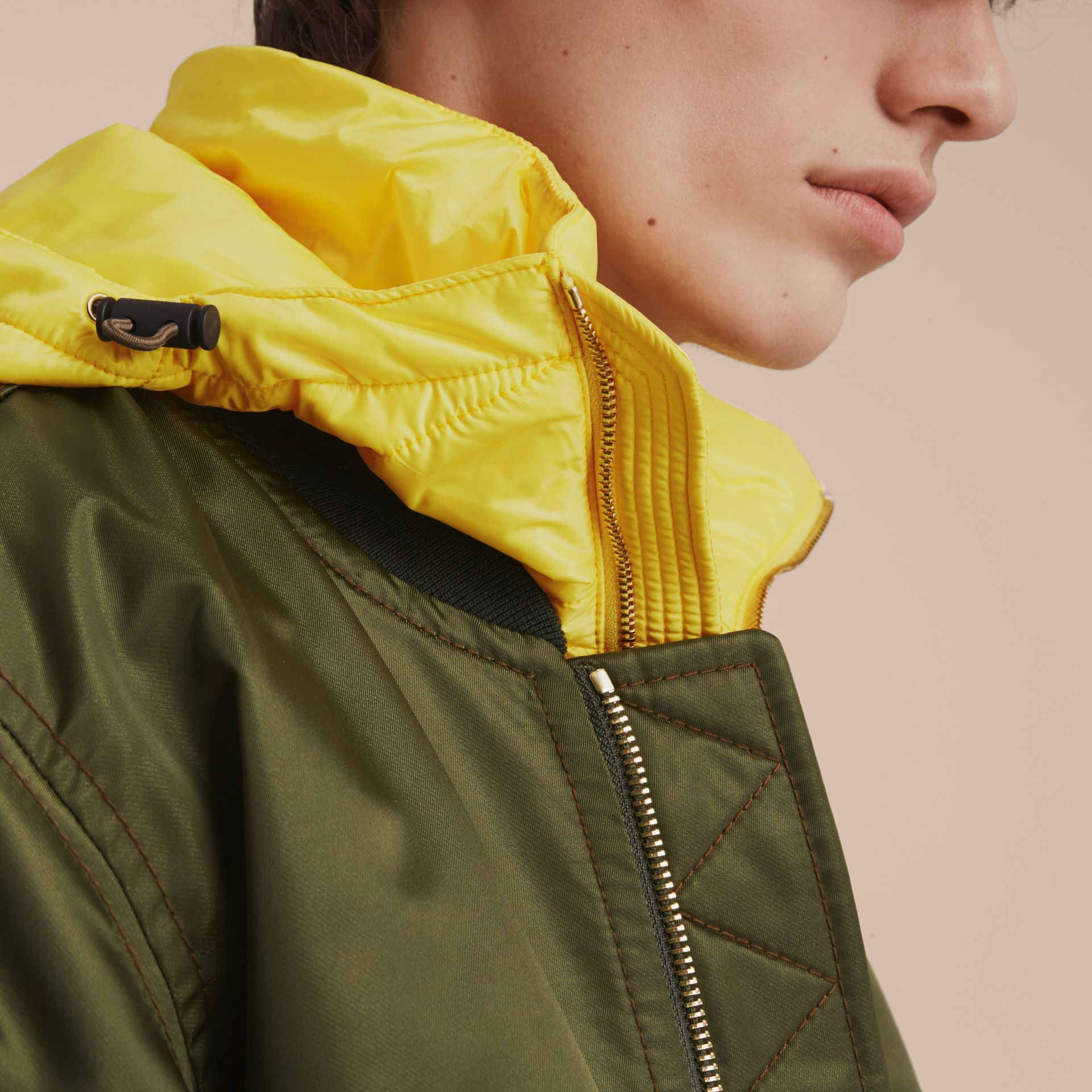 Technical Bomber Jacket with Detachable Warmer - gallery image 6