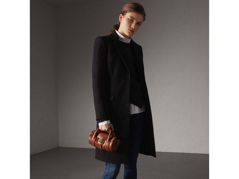 Wool Cashmere Tailored Coat in Black - Women | Burberry Australia - cell image 4