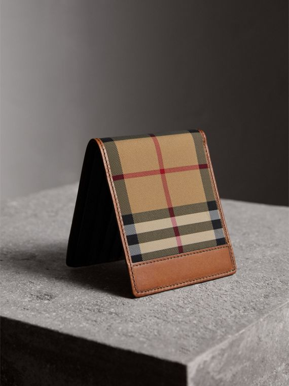 Horseferry Check International Bifold Wallet in Tan - Men | Burberry United States - cell image 2